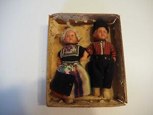 Vintage Puppen, Holländisches Trachtenpaar
