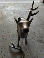 Cervo In Alluminio con pezzo rotto alto 55 cm