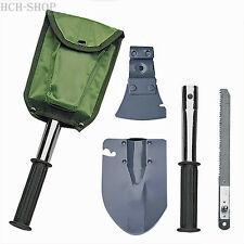 Herbertz Werkzeug-Set 4-tlg. Klappspaten Beil Hammer Säge inkl. Segeltuchtasche