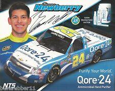 "SIGNED 2013 BRENNAN NEWBERRY ""QORE-24 NTS MOTORSPORTS"" #24 NASCAR TRUCK POSTCARD"