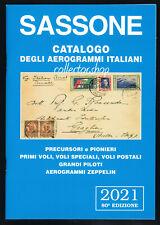 SASSONE CATALOGO DEGLI AEROGRAMMI ITALIANI 2021