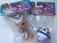 New Barbie Star Light Adventure Lot of 2 Pet Figurines