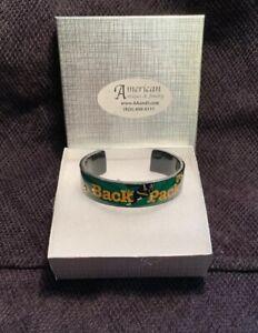 Green Bay Packers Fan Cuff Bracelet by Debbie Brooks - Fits Medium, - NEW IN BOX