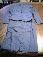 Vintage Peabody House Size 7/8 Skirt Suit Blue (cb37)