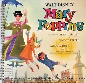MARY POPPINS - JEAN DESAILLY / LIVRE DISQUE VINYLE 25 CM / TRES BON ETAT