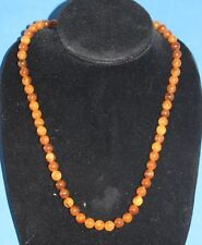Sarah Cov faux brown polished stone ball beaded 25 inch necklace