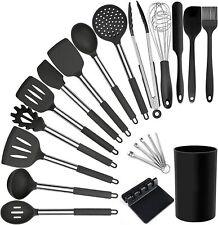 Kitchen Utensil Set - 20 Silicone Cooking Utensils - Kitchen Spatulas & Spoons