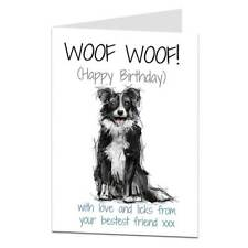 Border Collie Birthday Card From The Dog For The Owner & Lover