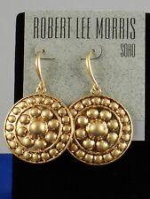 Robert Lee Morris Gold Plated Textured Disc Drop Earrings 37237145GLD710 $38