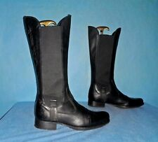 bottes cavalieres U ROADS en cuir noirrecycled  p 38 fr