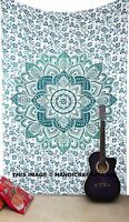 Indian Ombre Mandala Bedspread Wall Hanging Twin Tapestry Hippie Bed Cover Gypsy