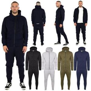 Men's Boys Tracksuit Corduroy Pocket Slim Fit Trousers Bottom Top  Zip Hoodies