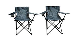 2er Set Angelstuhl Faltstuhl Campingstuhl mit Armlehne Getränkehalter Stuhl
