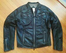DIESEL LEWA GRAND MASTER XL LEATHER CAFE RACER MOTORCYCLE BIKER JACKET jeans