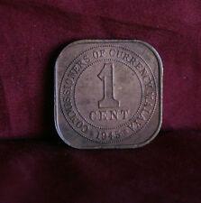 1 Cent 1945 Malaya Rare Bronze World Coin KM6 Malaysia King George VI Asia Nice