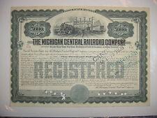 $5,000 Michigan Central Railroad Company Bond Stock Certificate Series of 1909