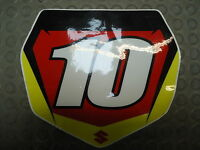Suzuki RM/RMZ 125-450 2005-07 Ryan Dungey team issue red no.10 background RM1663