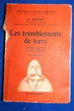 Tremblements de Terre-Causes-Effets,ROTHE,Flammarion,IL