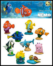 9 x DISNEY PIXAR FINDING NEMO CHARACTER KID FIGURE DISPLAY TOY CAKE TOPPER DECOR