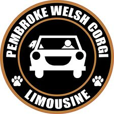 "Limousine Pembroke Welsh Corgi 5"" Dog Sticker"