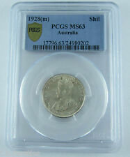 1928 Aust Shilling. A choice uncirculated coin PCGS MS63. Very scarce coin!