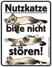Fun Schild Alu Blechschild geil bedruckt und Geprägt - Nutzkatze Nutz Katze