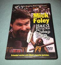 WWF Mick Foley: Hard Knocks & Cheap Pops WWE DVD 2001 OOP RARE Cactus Jack