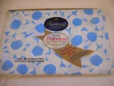 NIP Vintage Fieldcrest percale cotton blend Twin fitted sheet floral