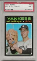 1971 TOPPS # 615 MEL STOTTLEMYRE, PSA 7 NM, NEW YORK YANKEES, CENTERED, L@@K