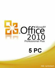 Microsoft Office 2010 Prof. Plus - Product Key für 5 PC's + Installations-DVD