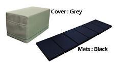 MULTI PURPOSE S.LEATHER MAGIC BOX YOGA GYM CUSHION FOLDABLE MATS GREY COLOR