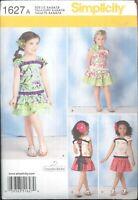 Child's Top & Ruffled Skirt Pattern Simplicity 1627 Size 3 4 5 6 7 8 Uncut