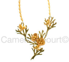 California Poppy Necklace on Pearls by Michael Michaud #8260BZYP