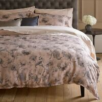 Clearance Christy Regency Blush Pink Single Duvet Cover Set 60% Linen