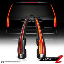 """NEWEST STYLE"" 2007-2014 Cadillac Escalade Black FULL-LED Tube Tail Lights Lamps"