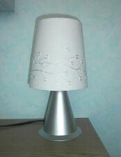 Tischlampe Leseleuchte Bibliothek silber Beleuchtung DxH 10x14 cm Sockel 1x E27