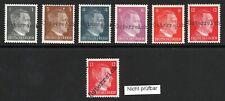 Lokalausgaben 1945, Hitlermarken mit Aufdruck, 6 Marken postfrisch, 1 gefalzt