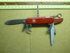 Wenger Skier Swiss Army knife in red -  has  pick and tweezers - Rare