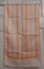 TERRIART Orange & White Poca Dots with Alternating Lines 12x43 Lg Scarf-Vintage