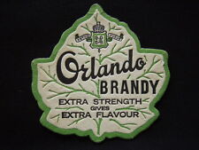 ORLANDO BRANDY EXTRA STRENGTH GIVES EXTRA FLAVOUR COASTER