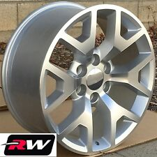 "20"" inch 20 x9"" Wheels for Chevy Avalanche Silver Machined GMC Sierra 2014 Rims"