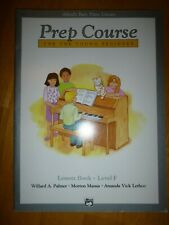 Alfred's Basic Piano Library: Lesson Book . Level F