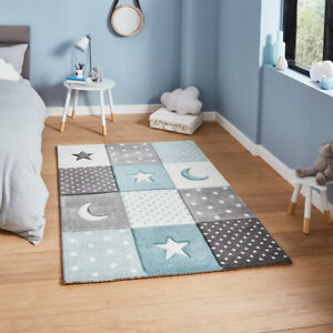 Think Rugs Brooklyn Kids 20340 Moons Stars And Spots Rug