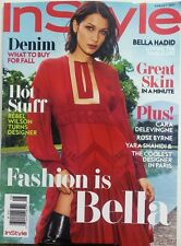 In Style August 2017 Bella Hadid Fashion Denim What To Buy 4 Fall FREE SHIPPING