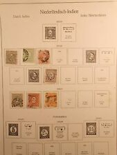 Page Dutch East Indies postage stamps 1870-90 King William & Numeral Value