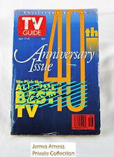 James Arness Gunsmoke Marshal Dillon VTG TV Guide 40 Anniversary Issue Signed