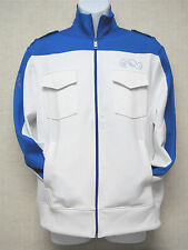 EXPRESS -Men's Track Top Jacket-White & Royal Blue-Royalty Honor Pride NY-Size M