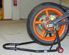 TRIUMPH HEAVY DUTY MOTORBIKE BIKE REAR STAND,PADDOCK STAND,LIFT,FREE CHAIN BRUSH
