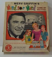 Merv Griffin's WORD FOR WORD board game 1963 Mattel