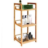 3-Tier Bathroom Shelf Bamboo Bath Storage Space Saver Organizer Shelves Rack New
